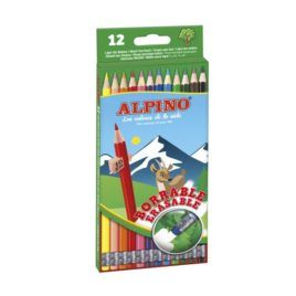 Lápices Alpino borrables 12 colores