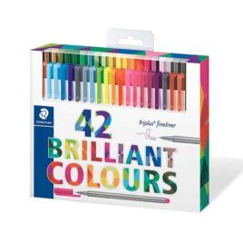 Rotulador fineliner 42 colores brillantes