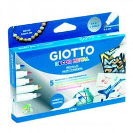 Rotuladores Metalizados Giotto 5 colores