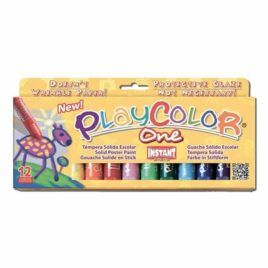 Témpera sólida escolar Playcolor 12 colores