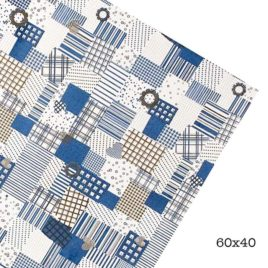 Goma Eva Design Patchwork Azul 60x40 2mm