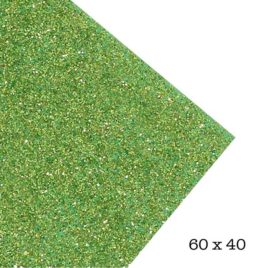 Goma Eva super glitter Verde Vivo 60x40 2mm