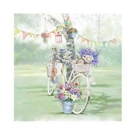 Servilleta Decoupage Bike against Tree