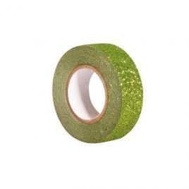 Washi Tape Glitter Verde 15 mm