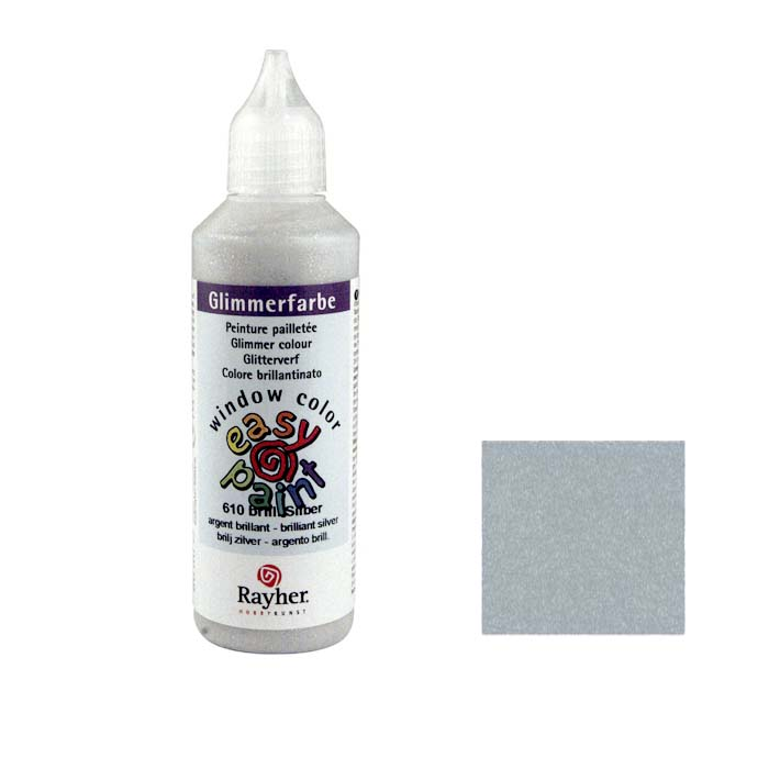 Window Color Easy Paint Glitter Plata 80ml
