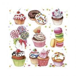 Servilleta Decoupage Sweets