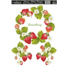 Transfer Tejidos Strawberry 25x35