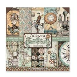Papel Scrap 30x30 Voyages Stamperia