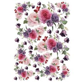 Papel de Arroz Bouquet Rosas 30x41