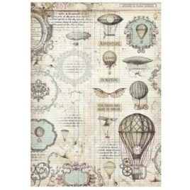 Papel de Arroz Voyages Globos Stamperia A3