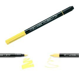 Rotulador Aqua Brush Duo Lyra Amarillo Claro