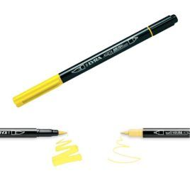 Rotulador Aqua Brush Duo Lyra Amarillo Cromo Claro