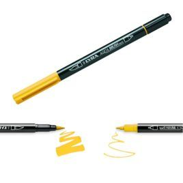 Rotulador Aqua Brush Duo Lyra Amarillo Cromo Oscuro
