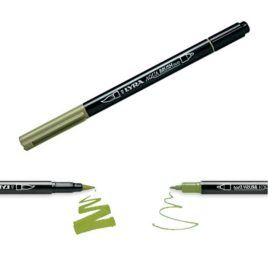 Rotulador Aqua Brush Duo Lyra Verde Cromo