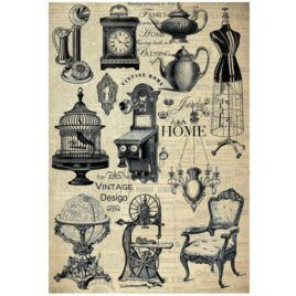 Papel de Arroz Home Vintage Design 30x41