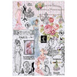 Papel de Arroz Paris Fashions 30x41