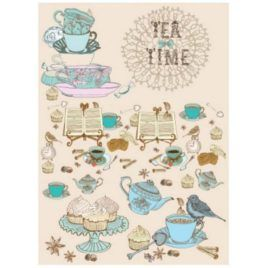 Papel de Arroz Tea Time 30x41