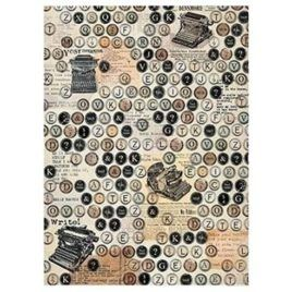Papel de Arroz Typewriter 30x41