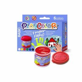 Pintura de dedos Playcolor 6 colores 40ml