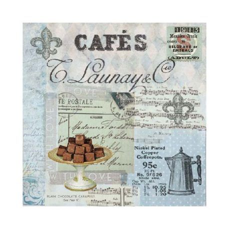 Servilleta Decoupage Cafe Collage