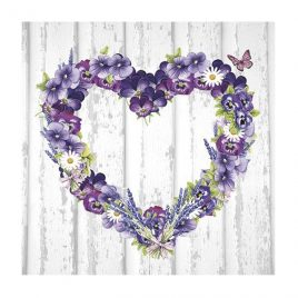 Servilleta Decoupage Purple Heart