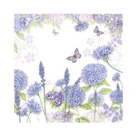 Servilleta Decoupage Purple Wildflowers