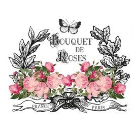 Transfer Home Decor 25x35cm Bouquet de Roses