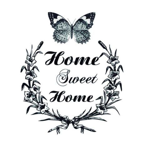 Transfer Home Decor 25x35cm Home Sweet Home