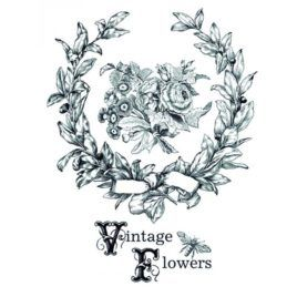 Transfer Home Decor 25x35cm Vintage Flowers