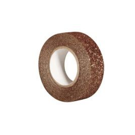 Washi Tape 15 mm Glitter Bronce