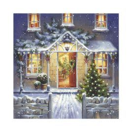 Servilleta Decoupage Welcome Home at Christmas