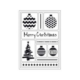 Stencil Flexible Adhesivo Merry Christmas