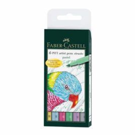 6 Rotuladores Pitt Artist Pen Brush Pastel