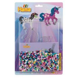 Blíster 2000 Beads + placa unicornio + papel