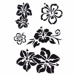 Stencil Caribbean Flowers A4 Viva Decor