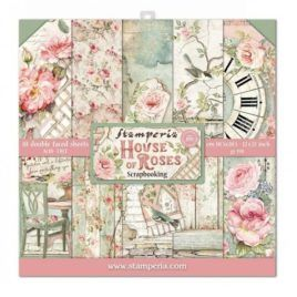Papel Scrap 30x30 House of Roses Stamperia