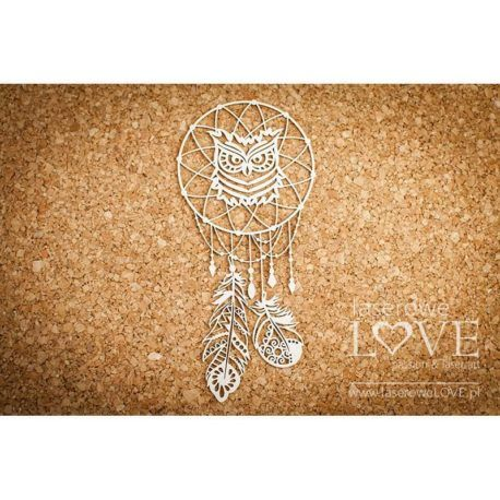 Chipboard Dreamcatcher Owl