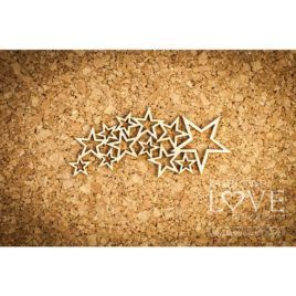 Chipboard Falling Stars Le Astre