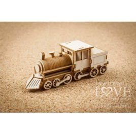 Chipboard Locomotive 3D