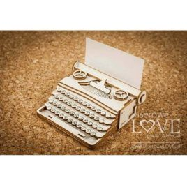 Chipboard Typewriter 3D