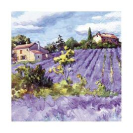 Servilleta Decoupage Lavender Fields