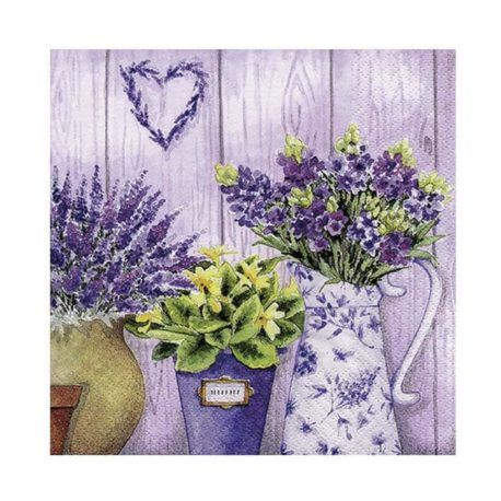 Servilleta Decoupage Lilac Flowers