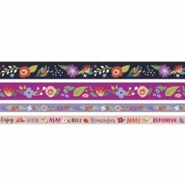 Washi Dark Floral Pack 4 unidades