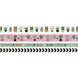 Washi Tape Succulent Pack 4 unidades