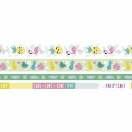 Washi Tape Tropical Pack 4 unidades
