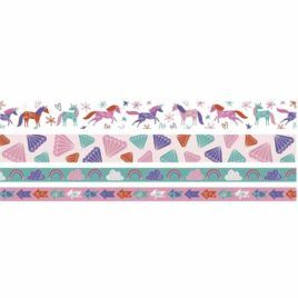 Washi Tape Unicorn Pack 4 unidades