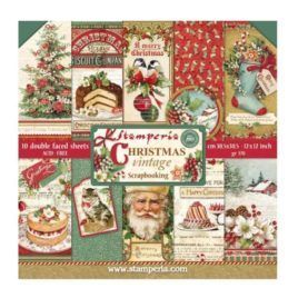 Papel Scrap 30x30 Christmas Vintage Stamperia