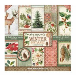 Papel Scrap 30x30 Winter Botanic Stamperia