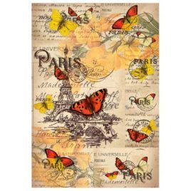 Papel de Arroz Mariposas en Paris 30x41
