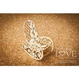 Chipboard Flower Rocker 3D